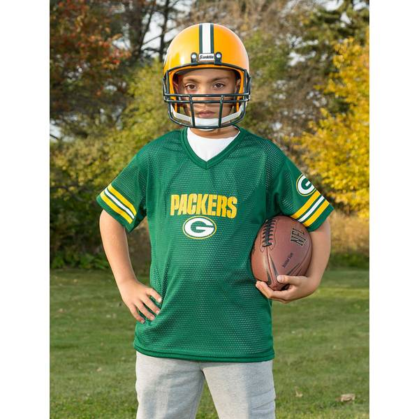 NFL Green Bay Packers Helmet & Jersey Set