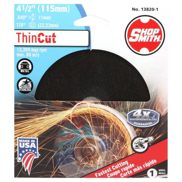 "4-1/2"" Thin Cut Wheel"