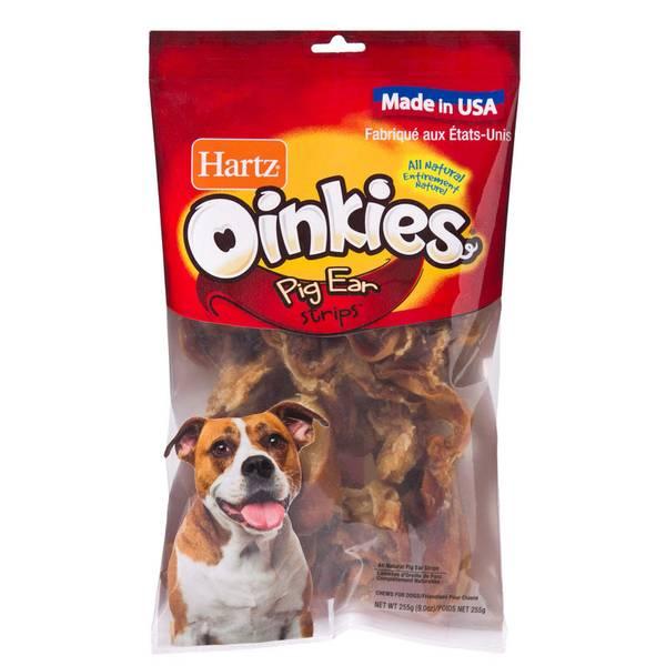 9 Ounce Hartz Oinkies Pig Ear Strips