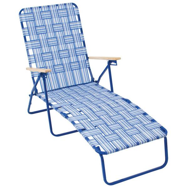 Web Chaise Lounge Blue