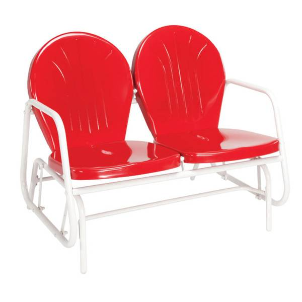 jack post blue highway red retro glider chair