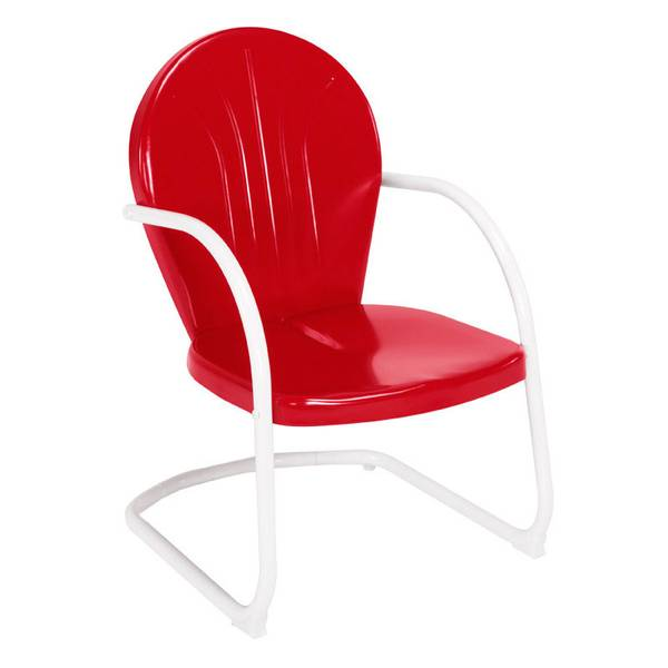 jack post blue highway red retro chair