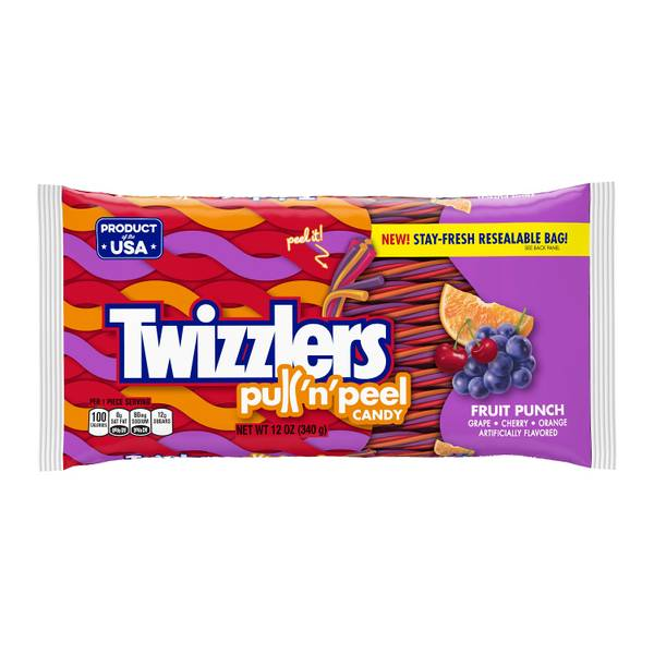PULL 'N' PEEL Fruit Punch Candy
