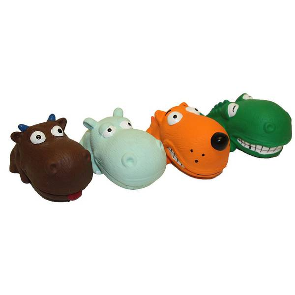 Mini Latex Animals Dog Toys Assortment