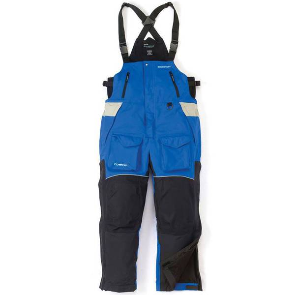 Ice armor men 39 s blue black edge ice fishing bib overalls for Ice fishing clearance