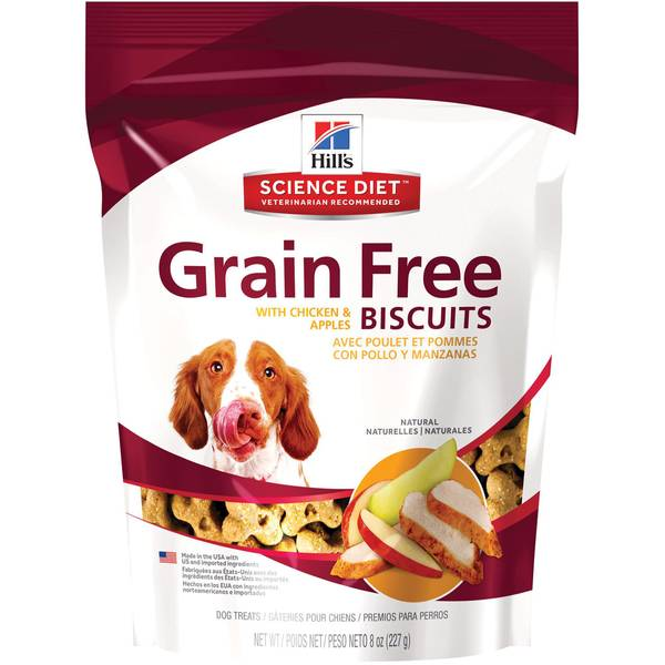 8 oz Grain Free Treats with Chicken & Apples
