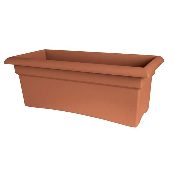 Veranda Clay Resin Planter Box