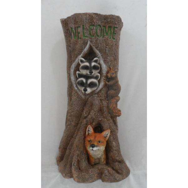 Homeview Design Raccoon Family And Fox Welcome Decor