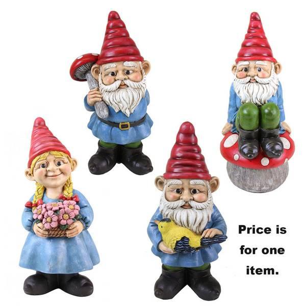 """Assorted 13"""" Multi-Color Gnomes"""