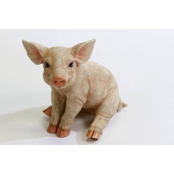 Showtime Sales Sitting Pig Statue
