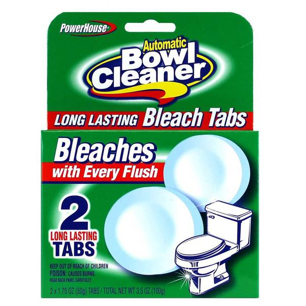 2 Count Bowl Cleaner Bleach Tabs