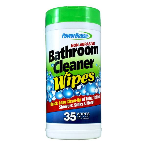 Bathroom cleaning wipes