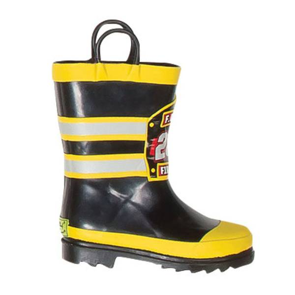Boys'  & Yellow Fire Department USA Rain Boots