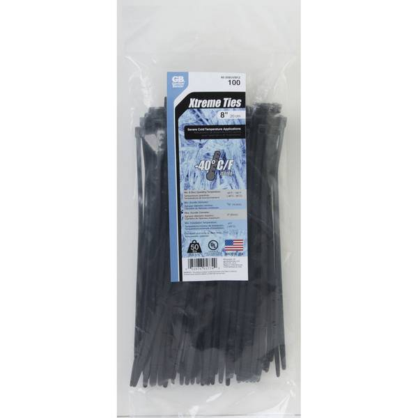 Black Xtreme Temp Cold Weather Cable Tie