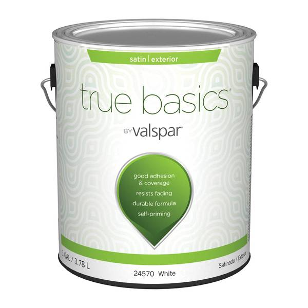 Mccloskey True Basics Exterior Satin White Paint Primer