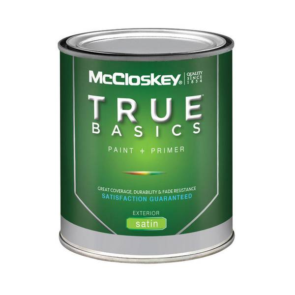 McCloskey True Basics Exterior Satin Clear Base Paint Primer