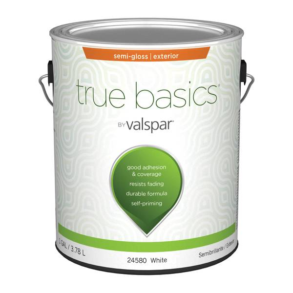 McCloskey True Basics Exterior Semi Gloss White Base Paint Primer