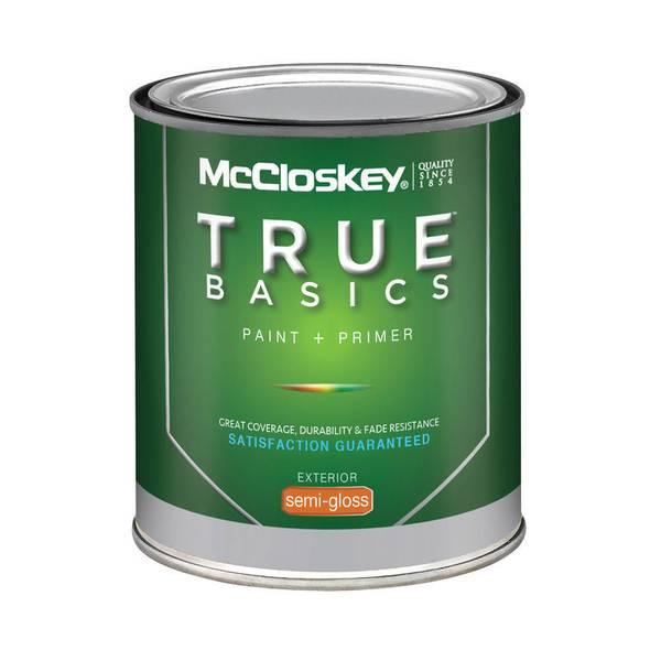 True Basics Exterior Semi-Gloss Clear Base Paint & Primer