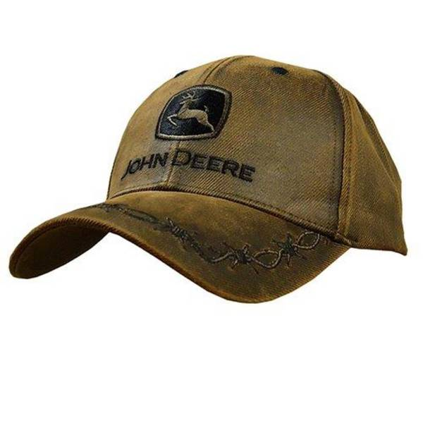 Men's  Oilskin Barbwire Adjustable Cap