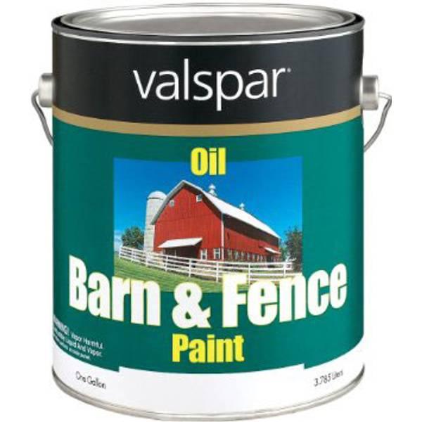 Valspar Barn Fence Paint Red Oil