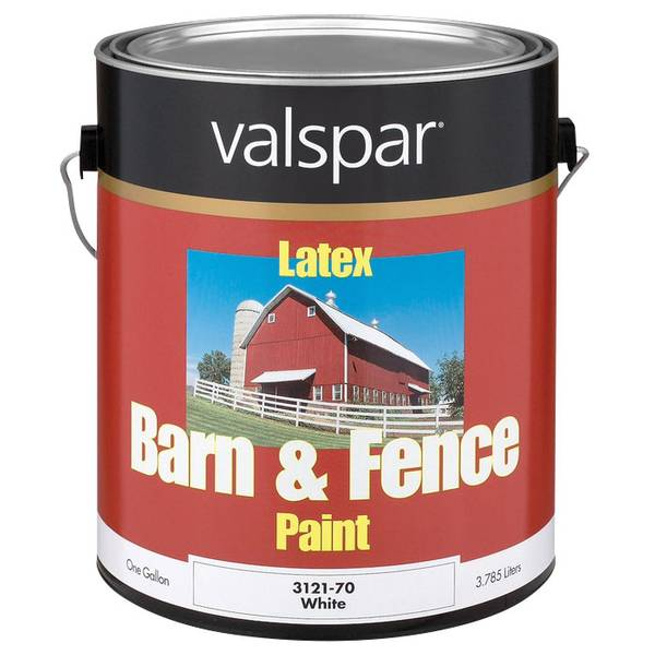 White Latex Paint : Valspar barn fence paint white latex