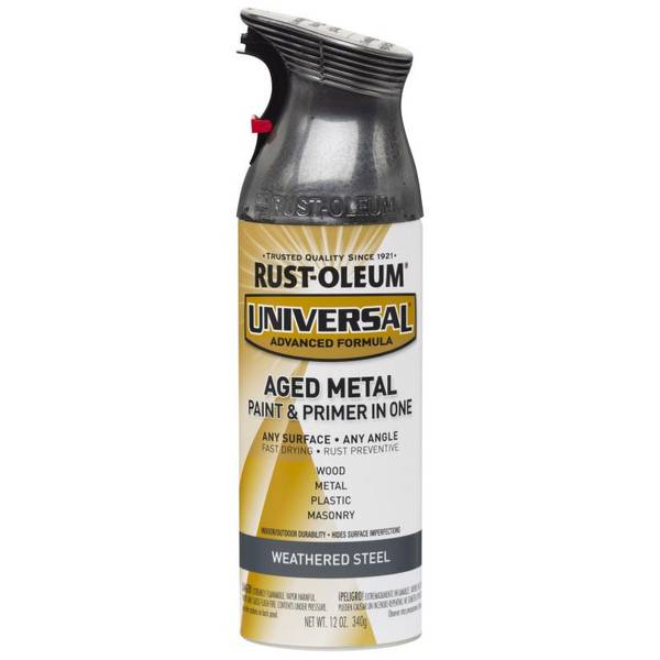 Universal Aged Metal Weathered Steel Spray Paint & Primer