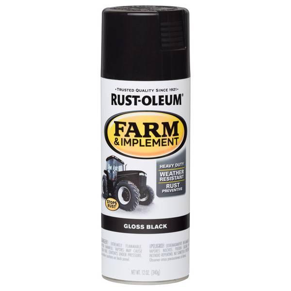 Farm & Implement Gloss Black Paint Spray