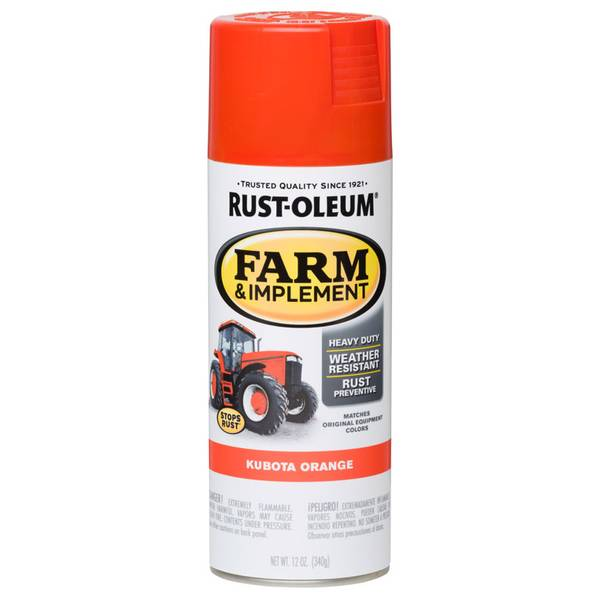 Farm & Implement Kubota Orange Spray