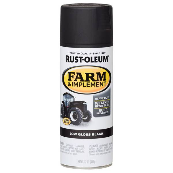 Farm & Implement Low Gloss Black Spray