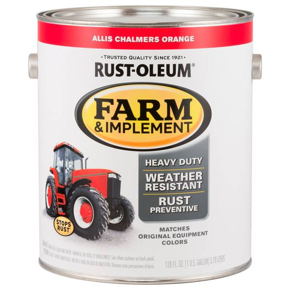 Farm & Implement Rust-Resistant Allis Chalmers Orange Paint