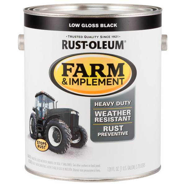 Farm & Implement Rust-Resistant Low Gloss Black Paint