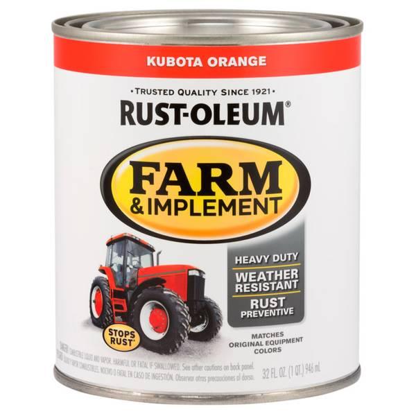 Farm & Implement Kubota Orange Paint