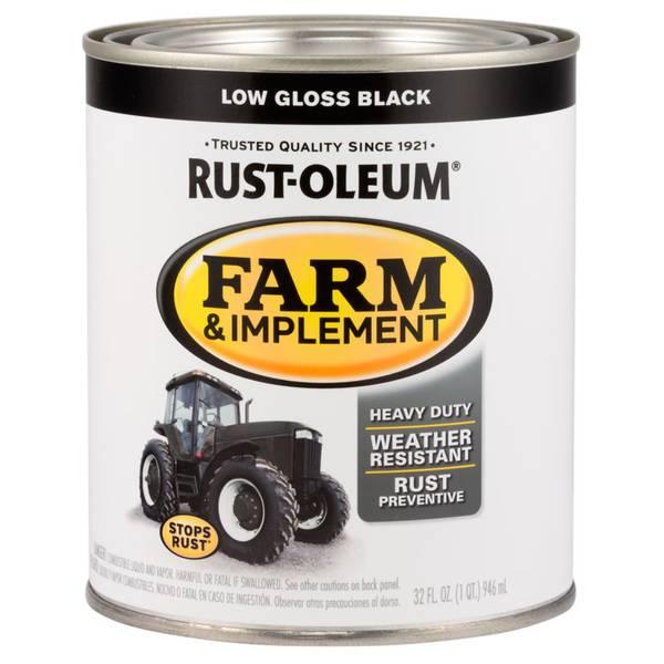 Farm & Implement Low Gloss Black Paint