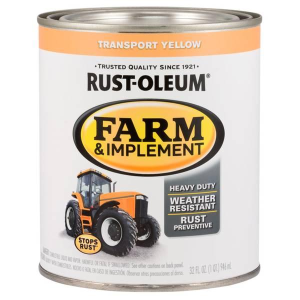 Farm & Implement Transport Yellow Paint
