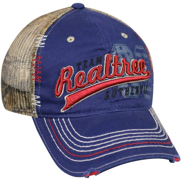 Men's Realtree Logo Camo Meshback Ball Hat