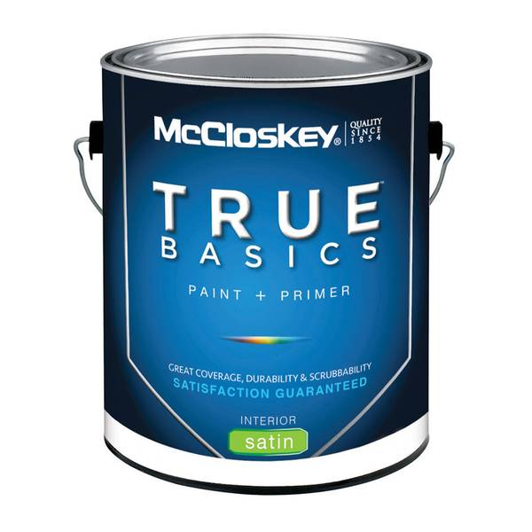 Mccloskey True Basics Interior Satin White Base Paint Primer
