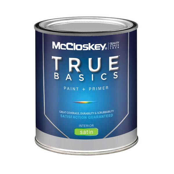 Mccloskey True Basics Interior Satin Tint Base Paint Primer
