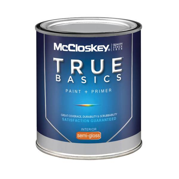 Mccloskey True Basics Interior Semi Gloss Clear Base Paint Primer