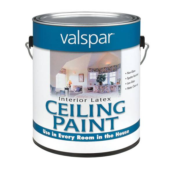White Latex Paint : Valspar white interior latex ceiling paint