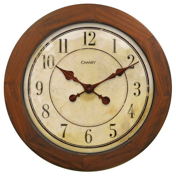 Old World Wood and Parchment Clock