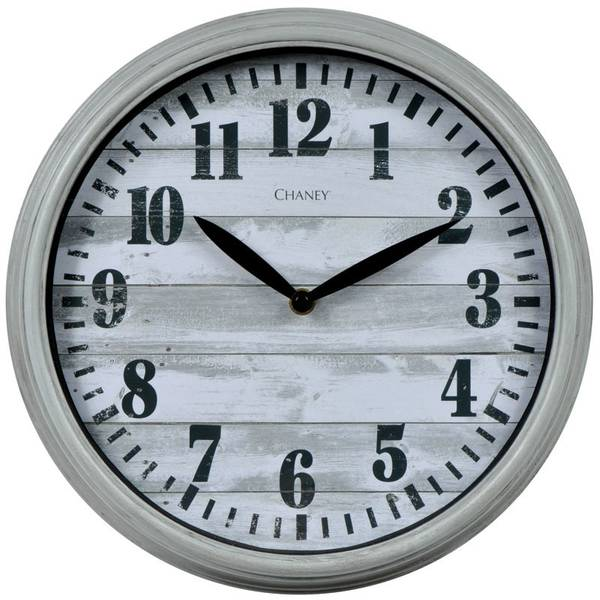 """12"""" Weathered Wood Dial Wall Clock"""