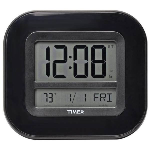 Atomic Digital Time, Temp & Date Wall Clock