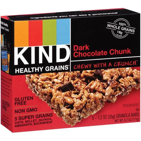 Healthy Grains Dark Chocolate Chunk Granola Bars