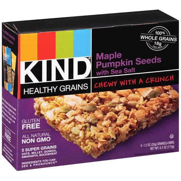 Healthy Grains Maple Pumpkin Seeds with Sea Salt Granola Bars
