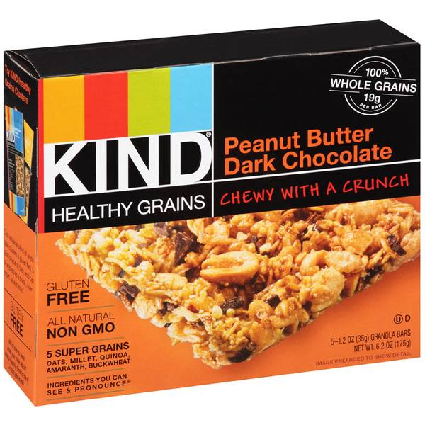 Healthy Grains Peanut Butter Dark Chocolate Granola Bars
