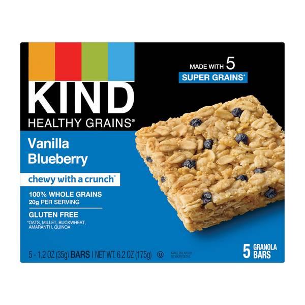 Healthy Grains Vanilla Blueberry Granola Bars