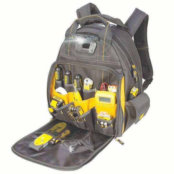 57 Pocket Lighted Tool Backpack