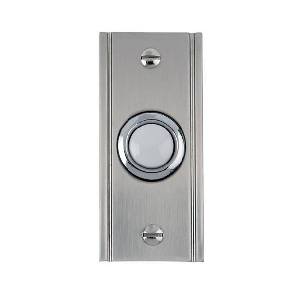 Brushed Nickel Door Bell Button