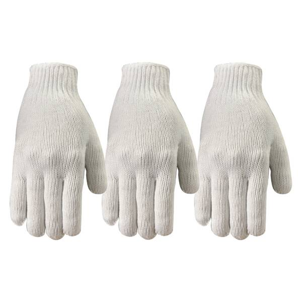 Poly Knit Reversible Gloves 3 - Pack