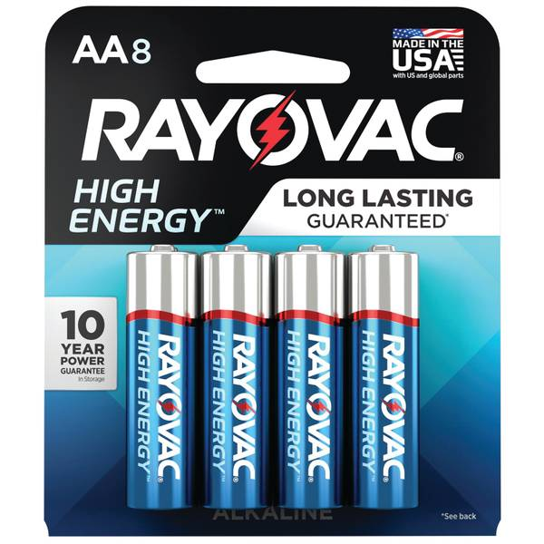 Alkaline Multi-Pack AA Batteries 8-Pack